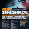WEBINAR - Criminologia applicata
